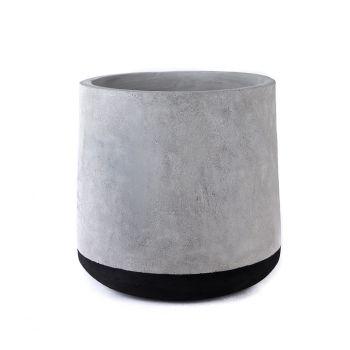 Concrete Floor Planter - Black