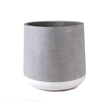 Concrete Floor Planter - White