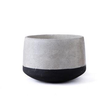 Large Concrete Pot - Black