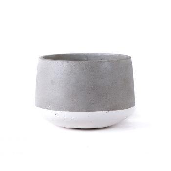 Large Concrete Pot - White
