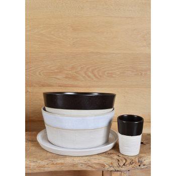 Drift Black Serving Bowl - 25cm