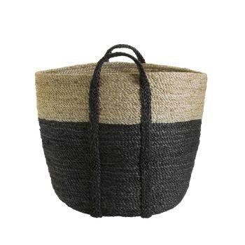 Jumbo Jute Two-Tone Basket