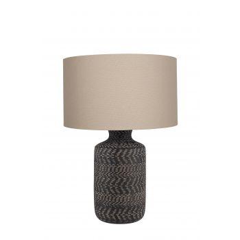 Nalpur Table Lamp - Black Stoneware