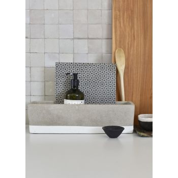 Rectangular Concrete Planter - White
