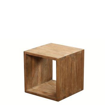 Lifestyle Storage Cube 2.5cm Frame Natural Teak