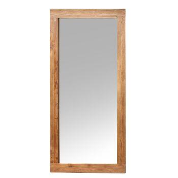 Unmilled Teak Mirror.