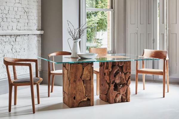 Teak Root Glass Table: A Spotlight