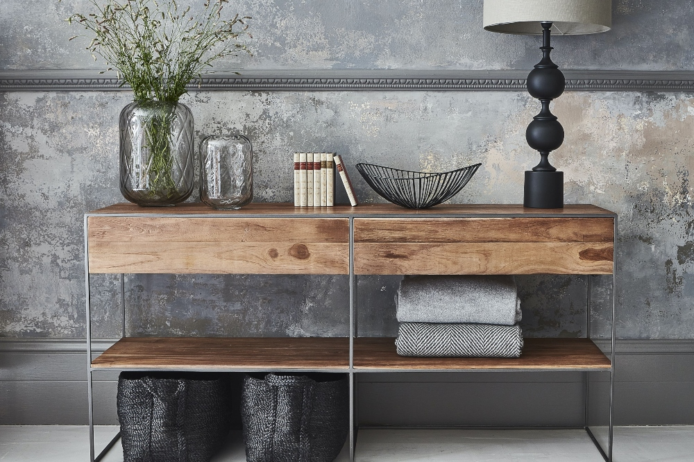 Witney console unit for storage space