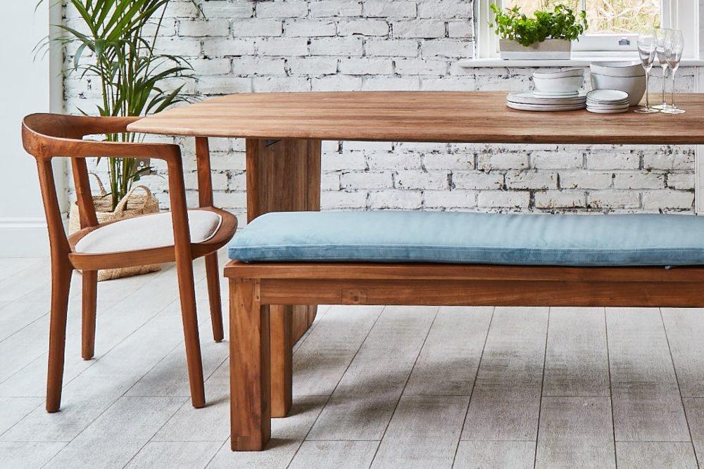 how to clean velvet neve dining table with velvet cushion