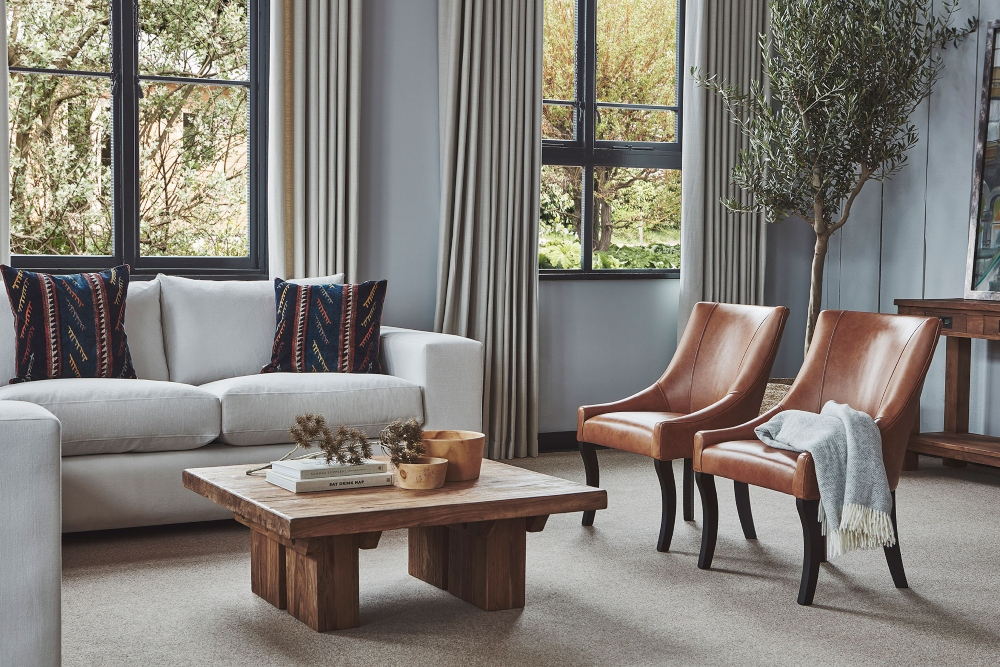 Autumn Melrose Sofa, leather Albany Chairs valentine's day