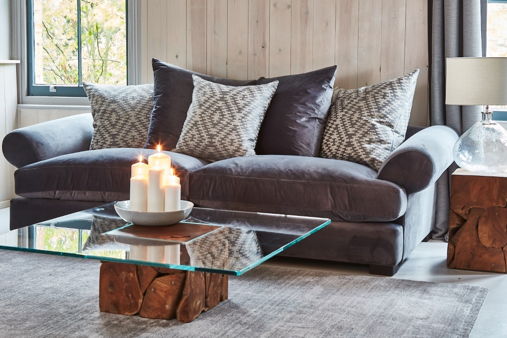 Lincoln Sofa curved lines soft textures valentines