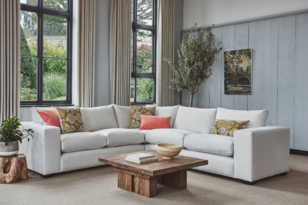 Melrose Sofa, SS21 scatters, Tamara Coffee Table