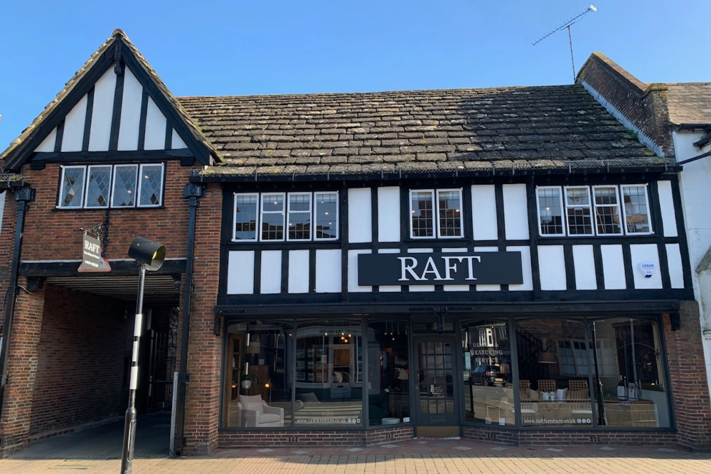 raft furniture Steyning front of shop