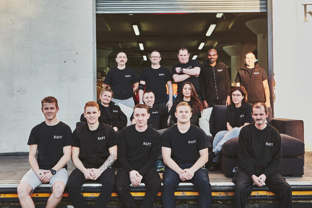 Photo of Raft's North London factory team of upholsterers and sofa makers
