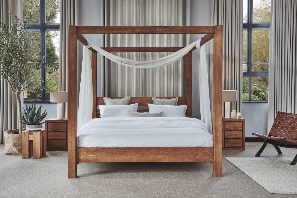 milbrook four poster bed teak bed