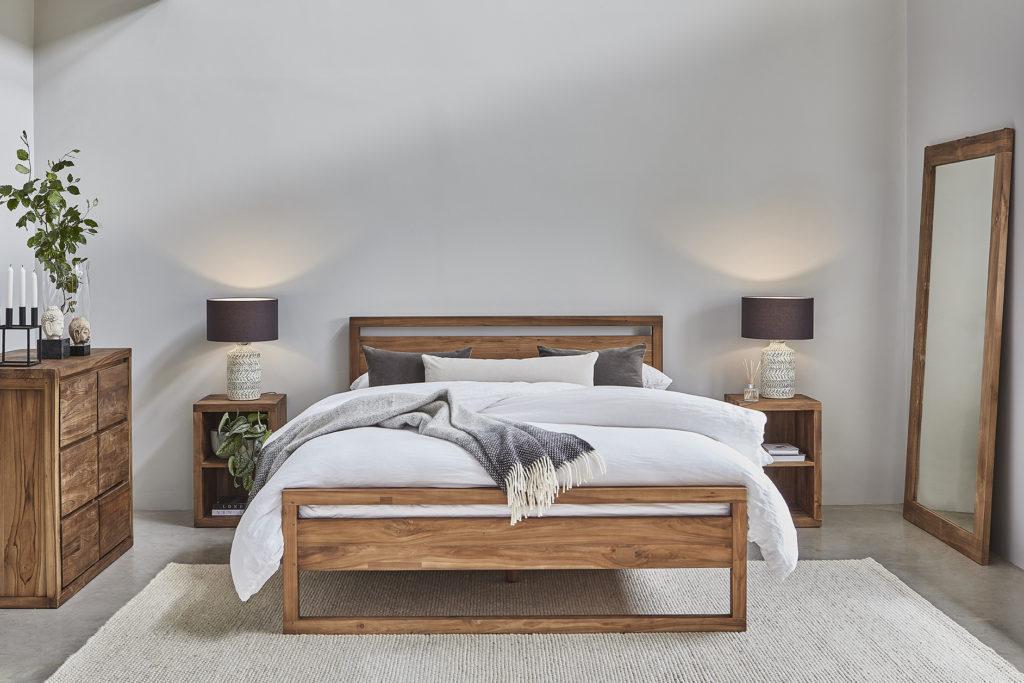 Hudson bed teak bed from raft furniture