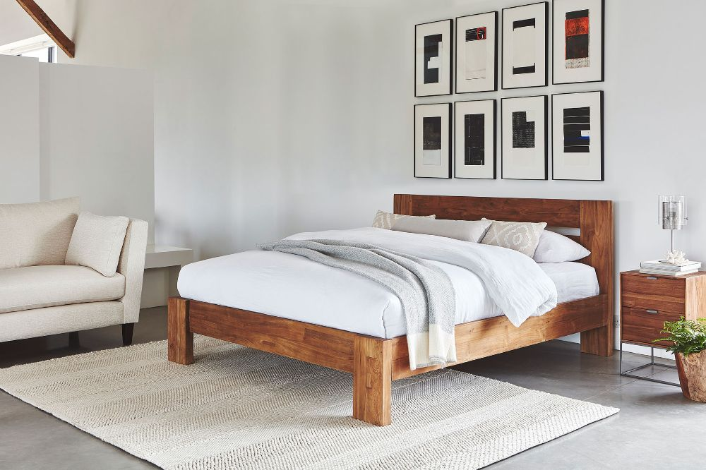 rug in bedroom to soften the space